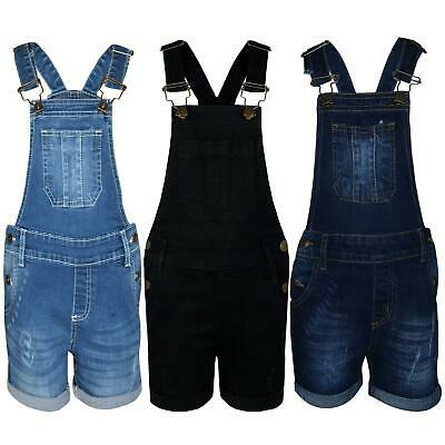 A2Z 4 Kids/® Kids Girls Dungaree Shorts Designers Light Blue Denim Ripped Stretch Jeans Overall All in One Jumpsuit Playsuit Age 5 6 7 8 9 10 11 12 13 Years