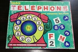 034-Loto-Telephone-pour-composer-des-mots-034-jeu-vintage-FERNAND-NATHAN