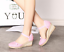 thumbnail 13 - Roman-Womens-Wedge-Mid-Heels-Strappy-Linen-Sandals-Pointy-Toe-Casual-Retro-Shoes