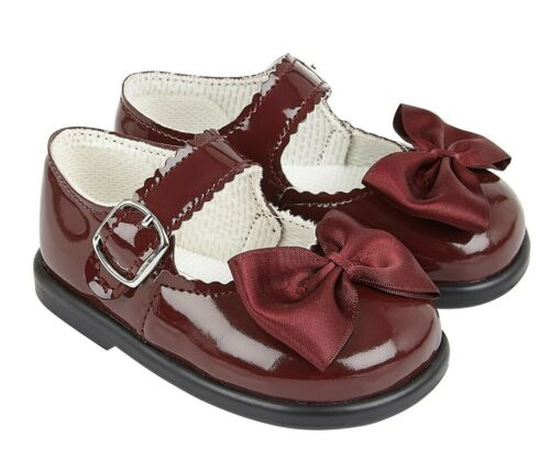 BABY GIRLS SHOES WITH BOW FIRST WALKERS BAYPODS MADE IN UK