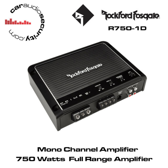 Rockford Fosgate Prime R750-1D 750 Watt Class-D Full-Range Mono Bass Amplifier