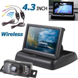 Nuovo-Auto-senza-Fili-Retromarcia-Telecamera-Posteriore-Parcheggio-Kit-10-9cm