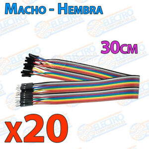 20-Cables-30cm-Macho-Hembra-jumper-dupont-2-54-arduino-protoboar-cable