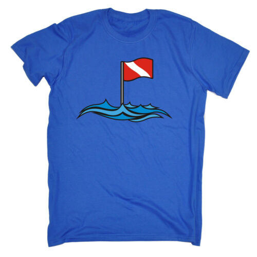 DIVE SITE FLAG T-SHIRT tee Scuba diving funny birthday gift 123t present for him