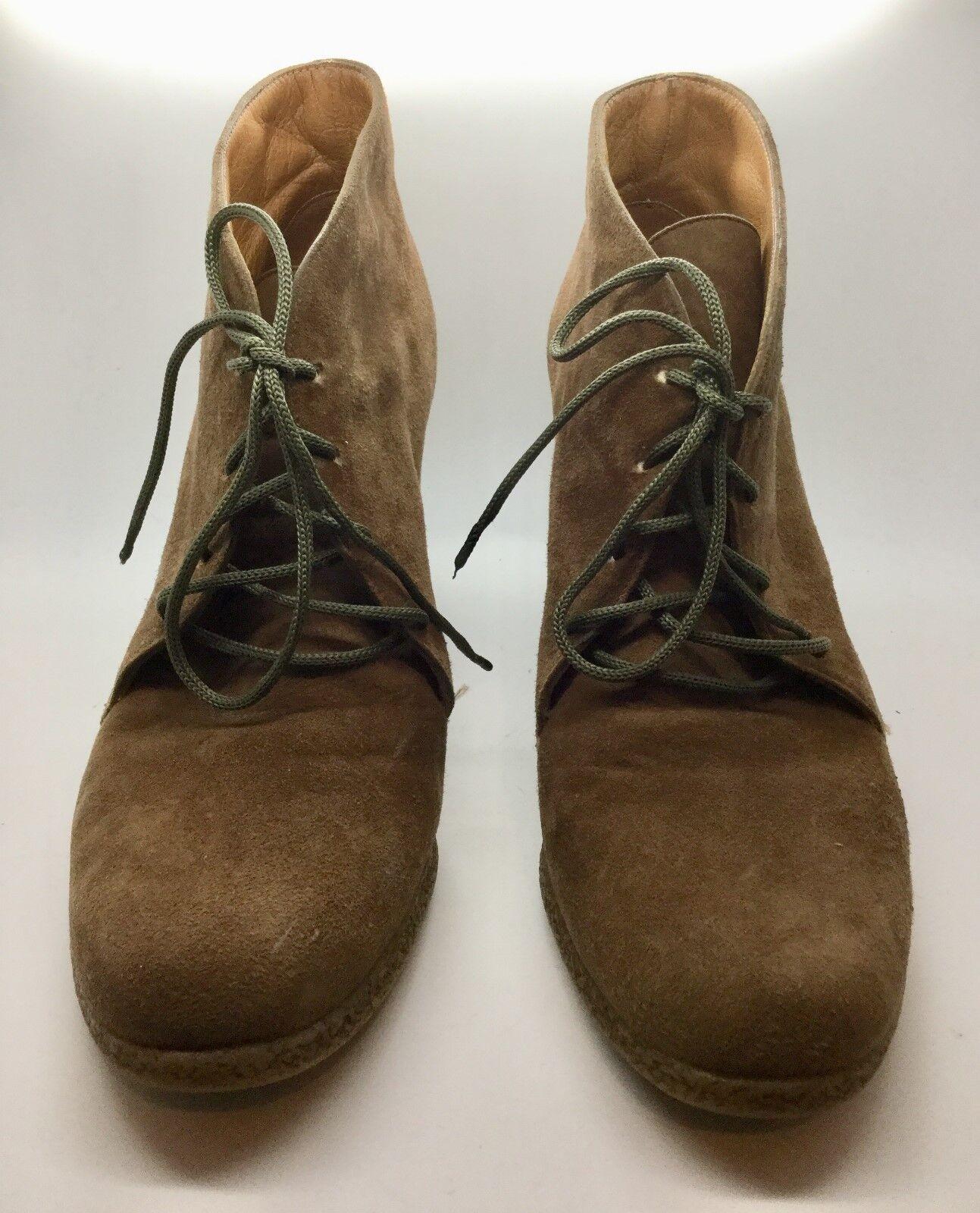 ROSSI &CARUSO Marronee Suede Leather Lace Up  Ankle avvio Dimensione 38  nuovi prodotti novità