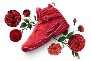 76b2a21752c6d Nike Air Jordan 8 VIII Retro Valentines Day Red Men s Size 7. AQ2449 ...
