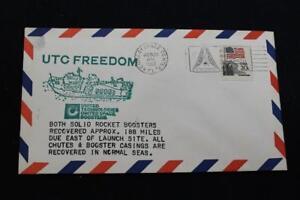 Marine-Raum-Abdeckung-1983-Slogan-Stempel-STS-7-Utc-Freedom-Recovers-SRB-039-S-5622