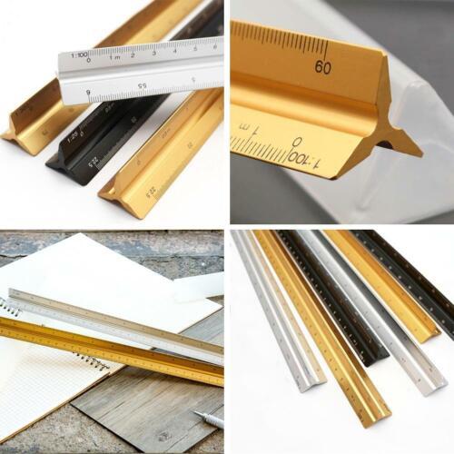 30cm 12 Zoll Tri Scale Aluminium Metall Lineal Architekt Ingenieure R Techn F8T8