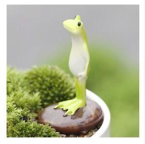 Standing Frog On Rock Miniature Fairy Garden Terrarium Decoration