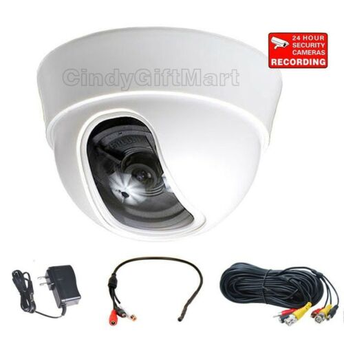 Dome Security Camera w// Sony Effio CCD Wide Angle Len 600TVL Audio Mic Cable cb9