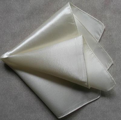 Brillant Handkerchief Mens Hankie Pocket Square Ivory New Taille Und Sehnen StäRken