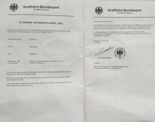 Komplettsatz Sitzbezüge Schwarz Satz zertifiziert OVP für