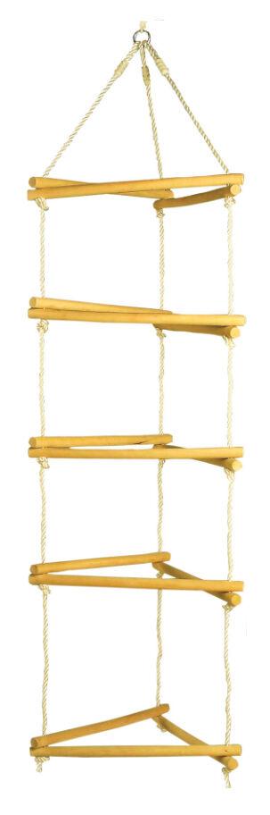 Klettergerüst Holz für Kinder 180 cm Kletterseil Klettern Netz Spielturm Zubehör