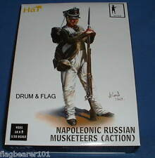HAT 9321 - NAPOLEONIC RUSSIAN MUSKETEERS (ACTION). 1/32 SCALE