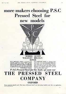 Sonstige Reklame & Werbung Billiger Preis Pressed Steel Comp Moris Austin Wolseley Hillmann Rover Histor.xxl-annonce 1930