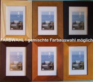 bilderrahmen holz hr 23 rahmen ab 10x15 30x40 cm farbe zb wei schwarz ebay. Black Bedroom Furniture Sets. Home Design Ideas