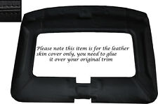 BLACK LEATHER CENTRE CONSOLE SKIN COVER FITS TOYOTA MR2 MK1 84-90