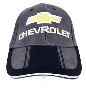 GM Mens CHEVY Chevrolet Truck Car Gray Blue Adjust 1 Size Baseball Hat Cap NEW