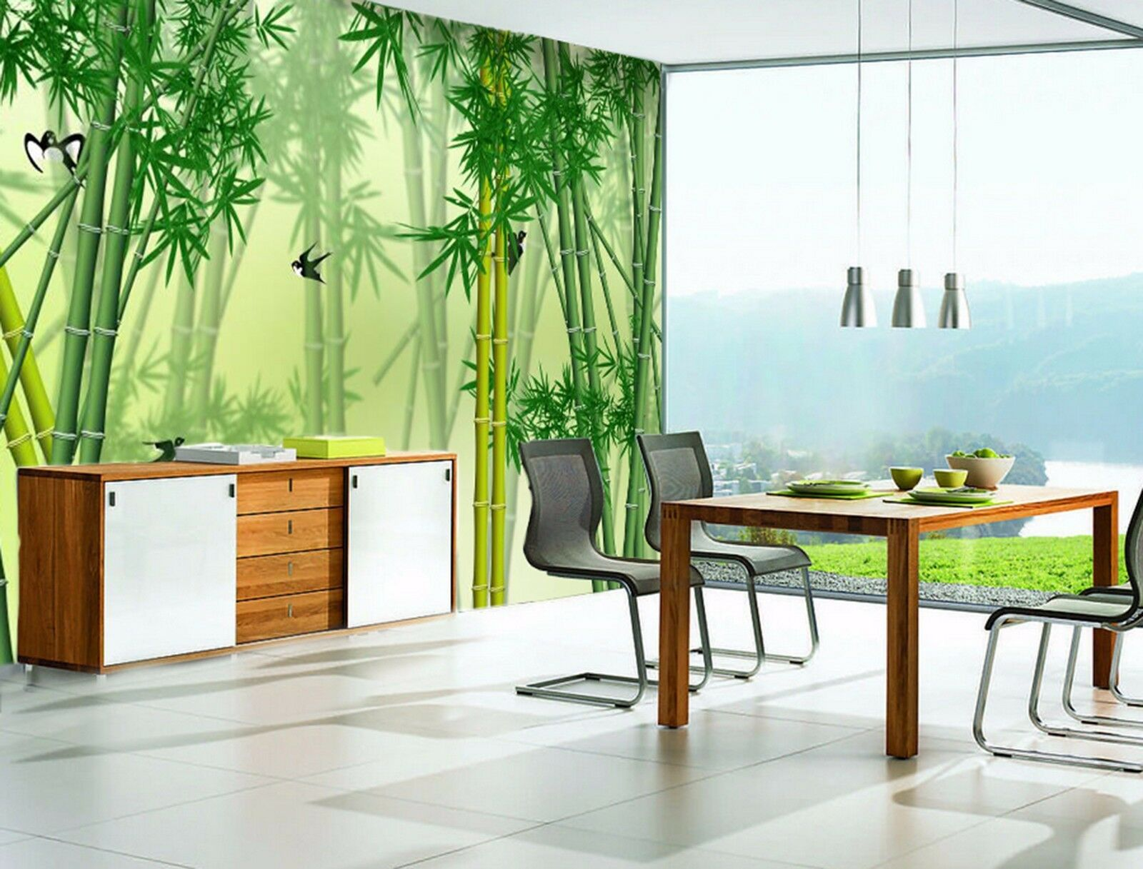 3D Bamboo green 2342 Wall Paper Wall Print Decal Wall Indoor Murals Wall US