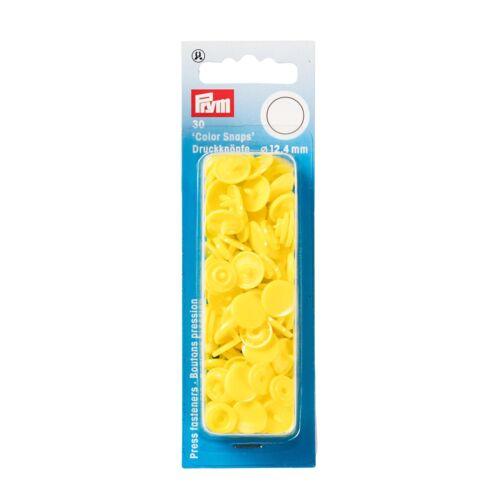 """rund 12,4mm hellgelb gelb Prym Nähfrei Druckknöpfe """"Color Snaps"""""""