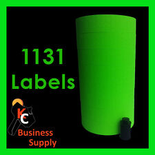 Green labels for Monarch-Paxar 1131 price gun labeler, 8 rolls, ink included