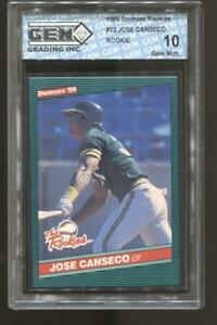 1986 Jose Canseco Donruss The Rookies #22 RC Rookie Gem Mint 10 A's
