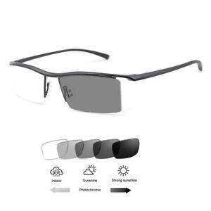 eff0e8e7bec Men Women Titanium Reading Glasses +1.0~+4.0 Photochromic Single ...