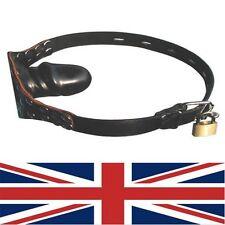 Ball Gag Single Protruding locking with padlock, fetish, bondage, uk fast post