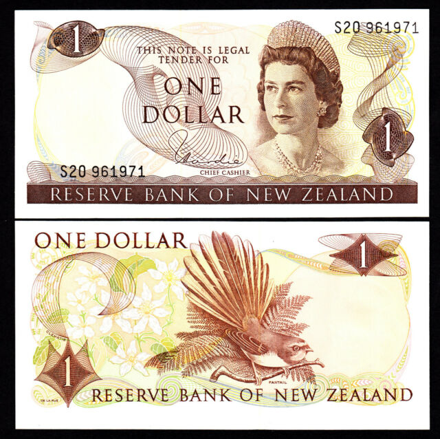 New Zealand  $1 UNC  GEM Note H.R.Hardie (1977-81) Type I P. 163d Prefix S20