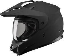 Gmax GM11 Dual Sport Adventure Street-Dirt Motorcycle Helmet LARGE Flat Black