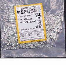 10Pcs SF240E SEFUSE Cutoffs NEC Thermal Fuse 240°C  Celsius Degree 10A 250V