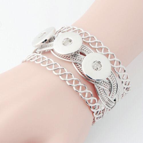 2016 fashion 1pcs Punk métal Bracelet Bracelets pour Noosa Snaps charme Bouton A-03