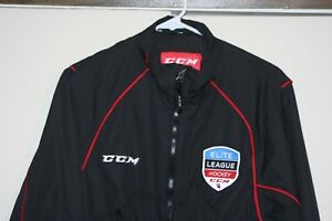 CCM-Elite-Hockey-League-Zip-Windbreaker-Jacket-Men-Small-Multi-Black-NHL-Lined