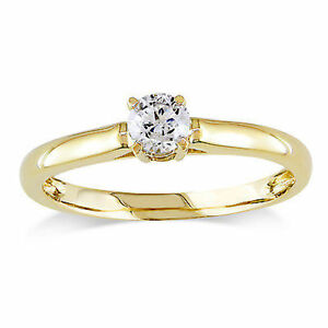 Amour-14k-Yellow-Gold-1-4-Ct-TDW-Diamond-Engagement-Solitaire-Ring-G-H-I1-I2