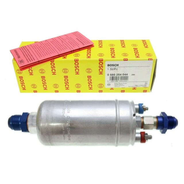 GENUINE BOSCH 044 0580254044 61944 Inline Fuel Pump -8AN In 6AN Out Fittings