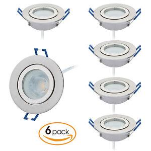 6er Set LED Einbaustrahler Badezimmer IP44 230V flach nur 25mm ...