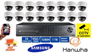 Doux Samsung 16 Dôme Cctv Caméras Outdoor Night Vision Kit De Sécurité Hd Enregistreur Home-afficher Le Titre D'origine