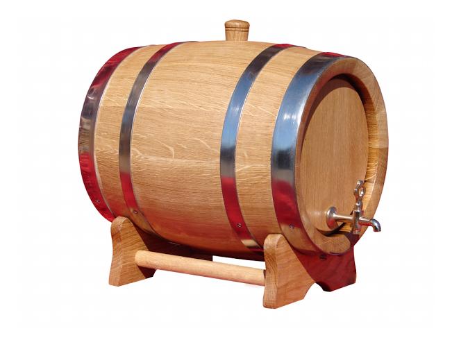 Wooden Barrel 11 L Wine Wood Cask Oak Barrels Wine Whiskey Cider Rum-NEW