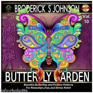 Adult Coloring Books Butterfly Garden Art Therapy Relax Spirit Begin Artist Kids