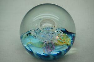 SELKIRK-GLASS-PAPERWEIGHT-CELEBRATION-2001-SIGNED-STUDIO-ART-GLASS-SCOTLAND