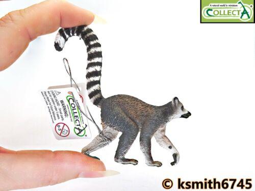 NOUVEAU * Collecta Ring Tailed Lémurien solide Jouet en plastique Wild Zoo Animal