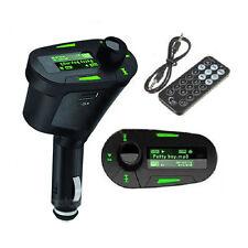 Car Kit MP3 Player Wireless FM Transmitter Modulator USB LCD Remote Green EC