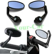 BLACK MOTORCYCLE CLAMP ON 7/8 HANDLE BAR END MIRRORS FOR HONDA SUZUKI YAMAHA VG/