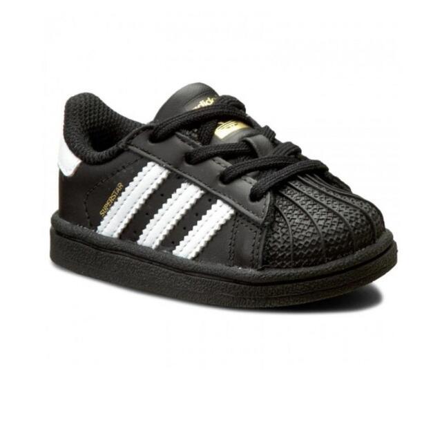 Scarpe sportive bimbo-bimba Adidas Superstar BB9078 Nero-Bianche pelle