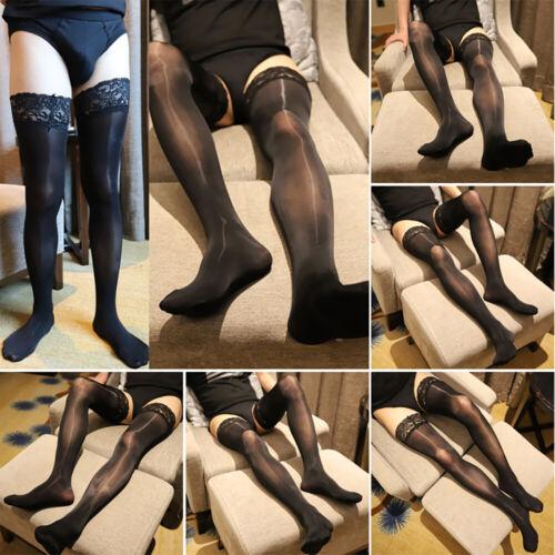 Männer Enge Silky Strümpfe See Through Strumpfhosen Strumpfbreathable Socken