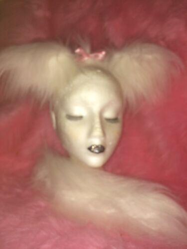 MALTESE Cane Orecchie /& Coda Vestirsi Set Costume di lusso pelliccia bianca con fiocco rosa