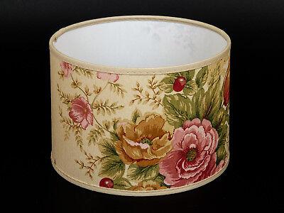 Lampenschirm Zylindrisch Hänge Stehlampe bunte Herbstblumen Rustikal Deckenlampe