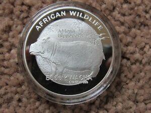 Zambia 5000 kwacha Hippo Hippopotamus Africa Wildlife Souviner Coin