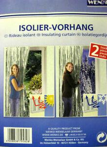 WENKO Isolier  Schutz 2er Set Vorhang Kälte Wärme Schutz Innenraum
