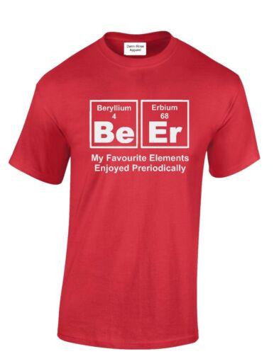 Bière Element T-Shirt Drôle Chimie Science T Shirt Drinking Top Cadeau S-XXXL